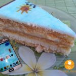 "Tort telefon ""Samsung""cu crema de vanilie si nuca de cocos"