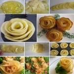 Cum facem un trandafir din cartofi