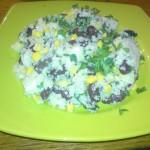 Salata de cous-cous cu fasole rosie si porumb dulce