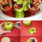Un alt mod de servire a salatei de fructe